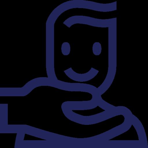 Icon Mensch reicht Hand